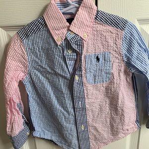 Ralph Lauren seersucker boys shirt